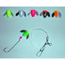 Spin-N-Glo Fluke Rig with 2/0 Carlisle Hook