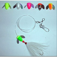 Spin-N-Glo Fluke Rig with Bucktail & 2/0 Carlisle Hook